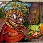 Graffitis en Chile.