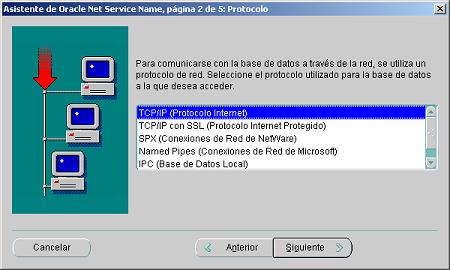 configurar un alias de red con Oracle Net8