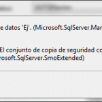 SQL Server: Error en la restauración de la base de datos. Copia distinta de la existente