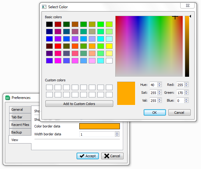 cómo implementar un selector de color