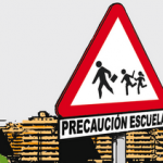 Precaución: escuela
