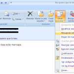 Recuperar un correo ya enviado (Outlook)