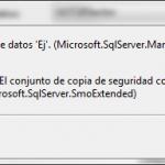 SQL Server: Error en la restauración de la base de datos. Copia distinta de la existente