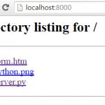 Método rápido para servir archivos a través de HTTP (Servidor HTTP) con SimpleHTTPServer
